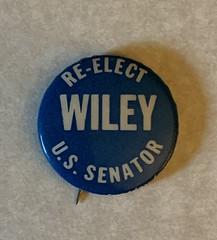 Senator Alexander Wiley Wisconsin Campaign Button