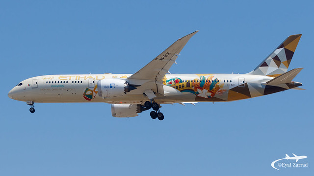 TLV - Etihad Boeing 787-9 A6-BLH ADNOC - Choose Italy Livery