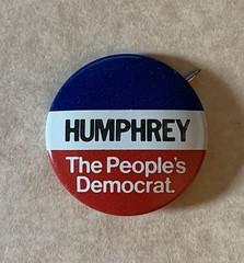 Hubert Humphrey 1972 Campaign Button President