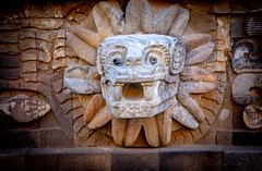 Pyramid of the Featherd Serpent Quetzalcoatl - Teotihuacan - Mexico 2020