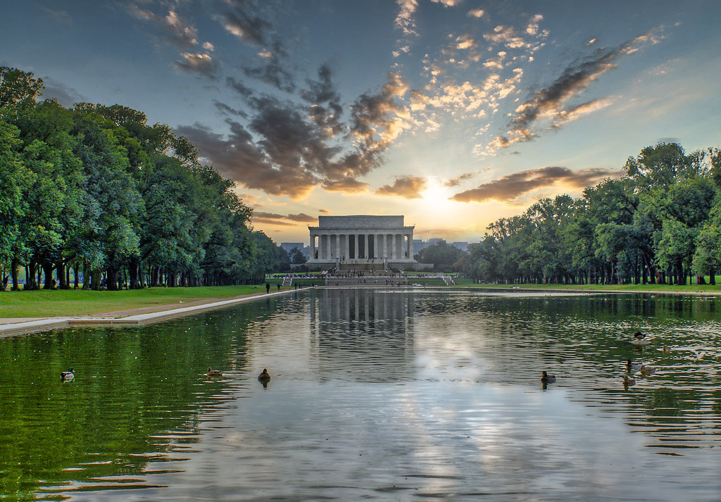 Lincoln Memorial Sunrise Reimagined