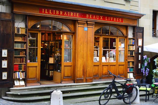 Buchhandlung in der Altstadt von Genf