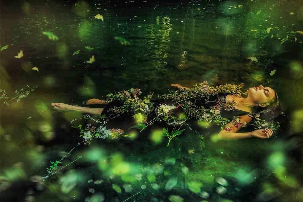 Ophelia in the river (after John Everett Millais)