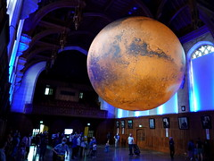 Luke Jerram's 'Mars' in the Wills Memorial Building, Bristol