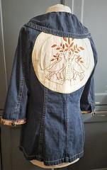Vintage Embroidery on Denim Jacket