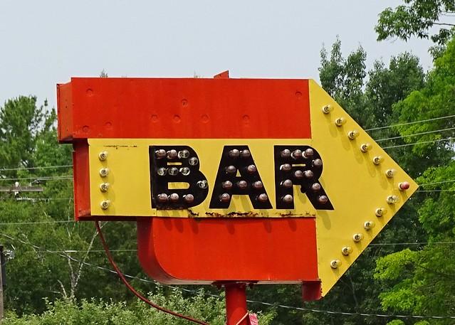 MI, DeTour Village-M 134 Albany Supper Club Bar Sign