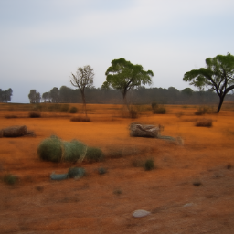 'the australian outback' CLIP Guided Diffusion v2 Text-to-Image