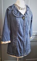 Vintage Fabric on Denim Jacket