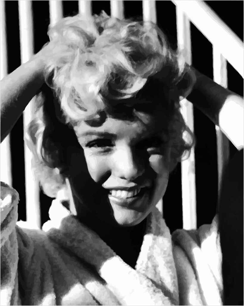 En el rodaje de The Seven Year Itch (1955), fotografiado por Bob Henriques