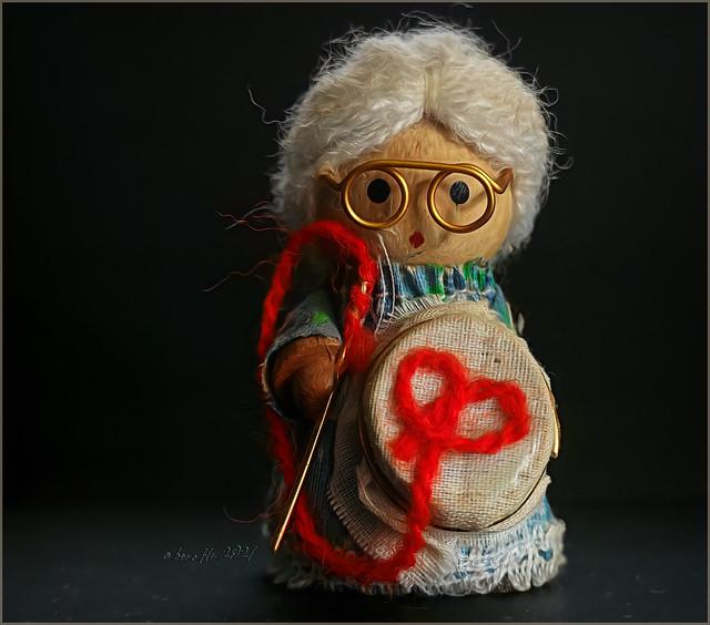 Granny and her needlework