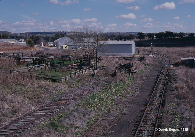 Inverell looking away from the terminal end - 1985