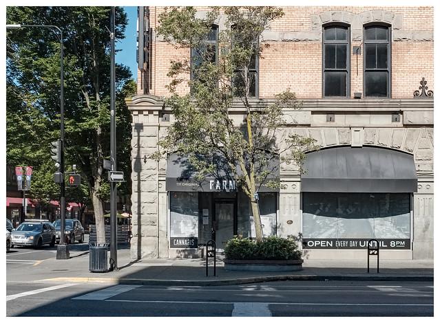 city street (cannabis shop)