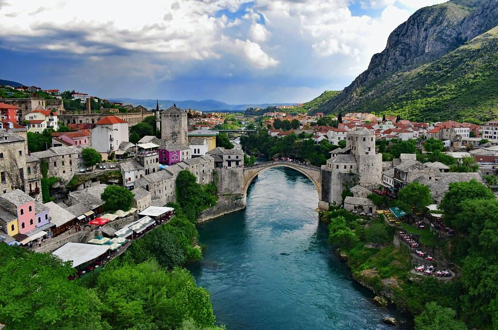 Старый мост в Мостаре. Вершина технической мысли 16 века