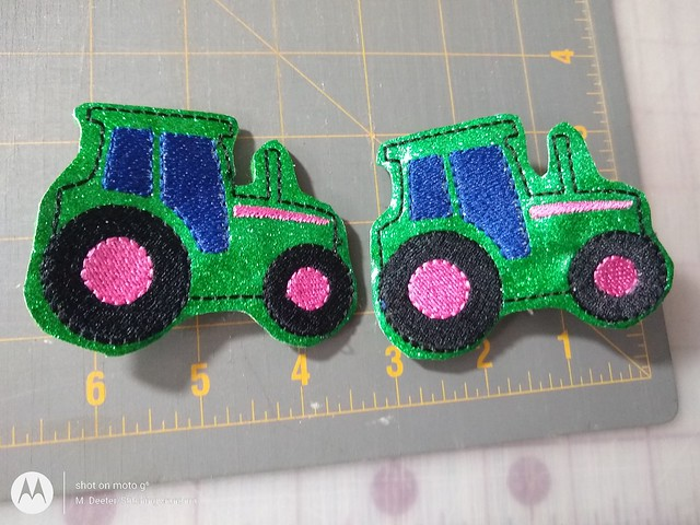 Tractor hair clips