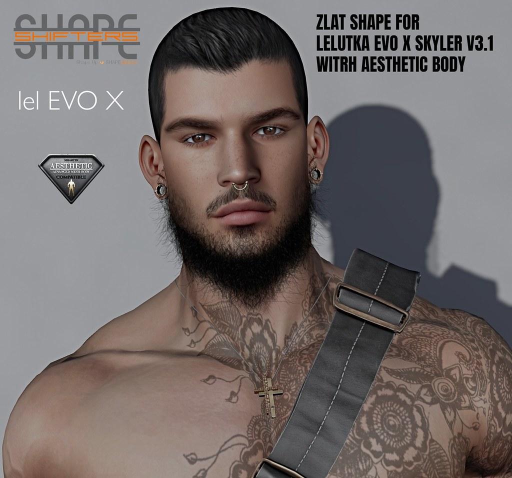 [SHAPEshifters] ZLAT SHAPE FOR LELUTKA EVO X SKYLER HEAD V3.1 WITH AESTHETIC BODY