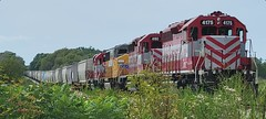 L591 grain train air testing at Nobel Rd. east of Horicon (4175-4180-6026-4183) on 073021