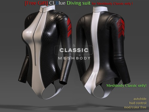 [Free Gift]CLBlue-Diving Suit(Meshbody-Classic)