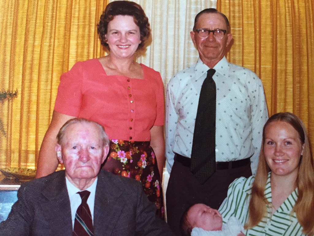 Anderson Karly, 4 generations Spies Cecil with Fardy Spies, Phyllis Teschner, Robyn Anderson