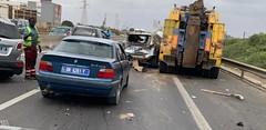 [Photos] Deux accidents sur l'autoroute u00e0 Pu00e9age