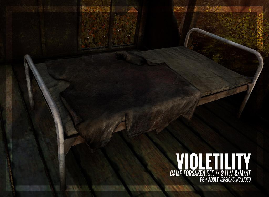 Violetility – Camp Forsaken Bed