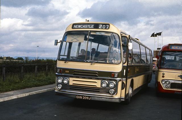 Bristol RE no. GHN209J @ Leeming Bar, North Yorkshire, July 1972 [slide 7207]