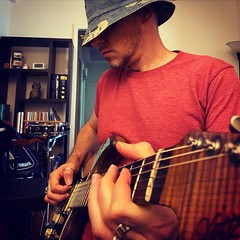 bucket hat birthday blues. just picking and grinning on the auspicious anniversary of circling the sun one more time.