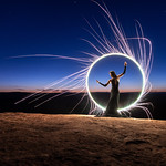 """Here's a 1.5 second exposure light-painting with Kim using a sparkler on top of a black tube (extension). Our tubes and tutorials are available on <a href=""""http://AboutTheTubes.com"""" rel=""""noreferrer nofollow"""">AboutTheTubes.com</a> <3"""