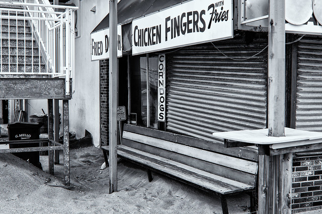 Food Stand--Newsprint