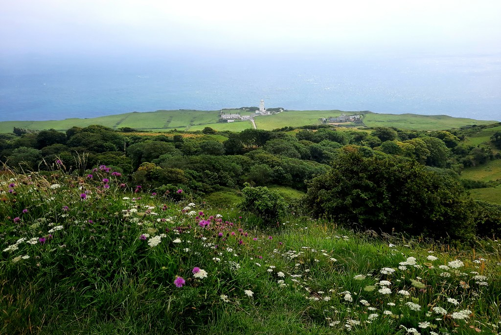 View over St Catherine's Point, Isle of Wight
