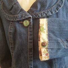Vintage Fabric Trim & Buttons