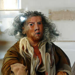 'a flemish baroque of an angry person' CLIP Guided Diffusion v2 Text-to-Image