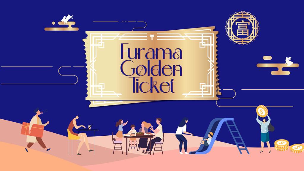 Furama Golden Ticket Digital Voucher Illustrations