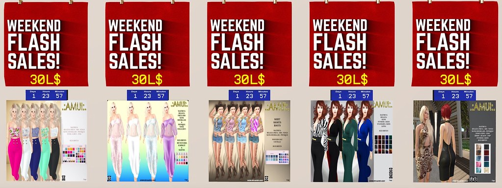 WEEKEND FLASH SALES – ITEMS ONLY 30L$