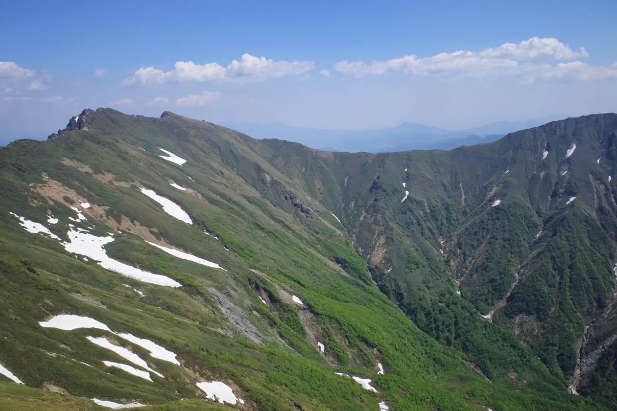 茂倉岳から眺める谷川主脈
