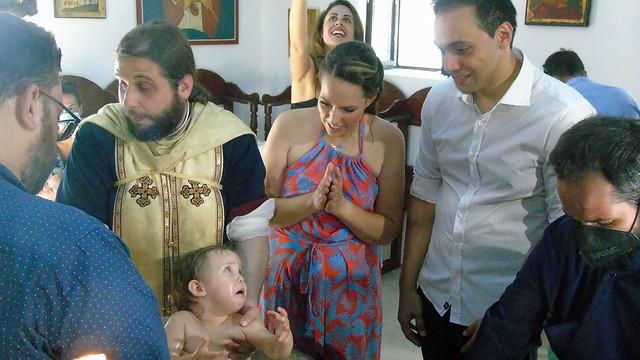Βάφτιση στο εκκλησάκι της Αγίας Κυριακής στο Νυδρί