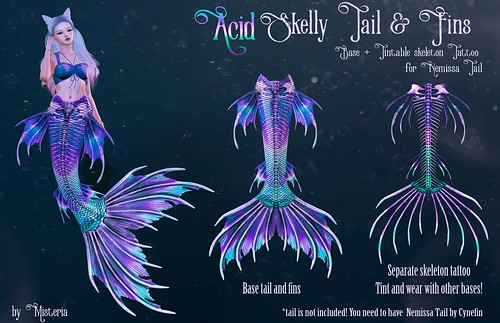 LUCKY LETTER Prize and Promo Price - Skelly Tail & Fins - Base and Tattoos for Nemissa tail