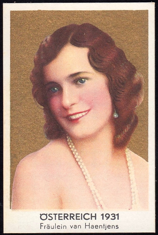 German Cigarette Card - Miss Austria 1931