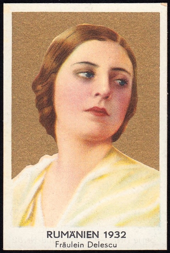 German Cigarette Card - Miss Romania 1932