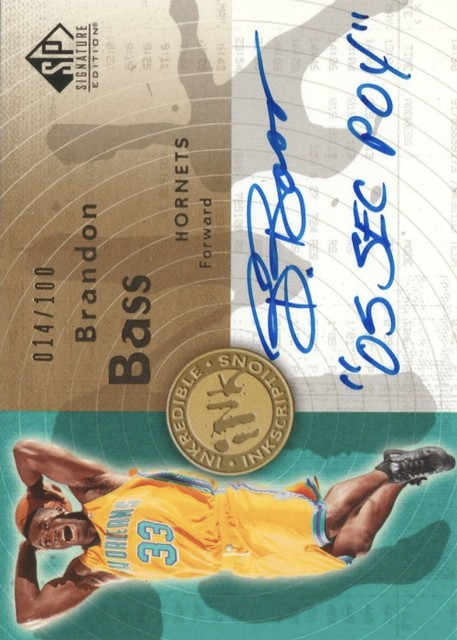 2005-06 SP Signature Edition - INKredible INKscriptions #BR Brandon Bass :100