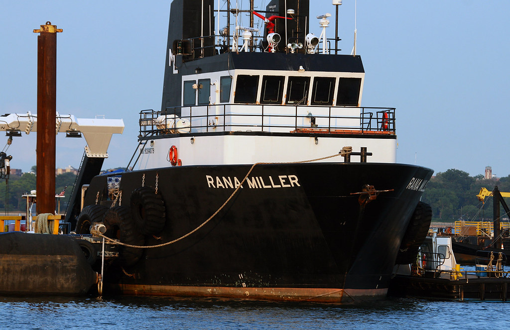 Rana Miller, at Miller's Launch, Staten Island, New York, USA. July, 2021
