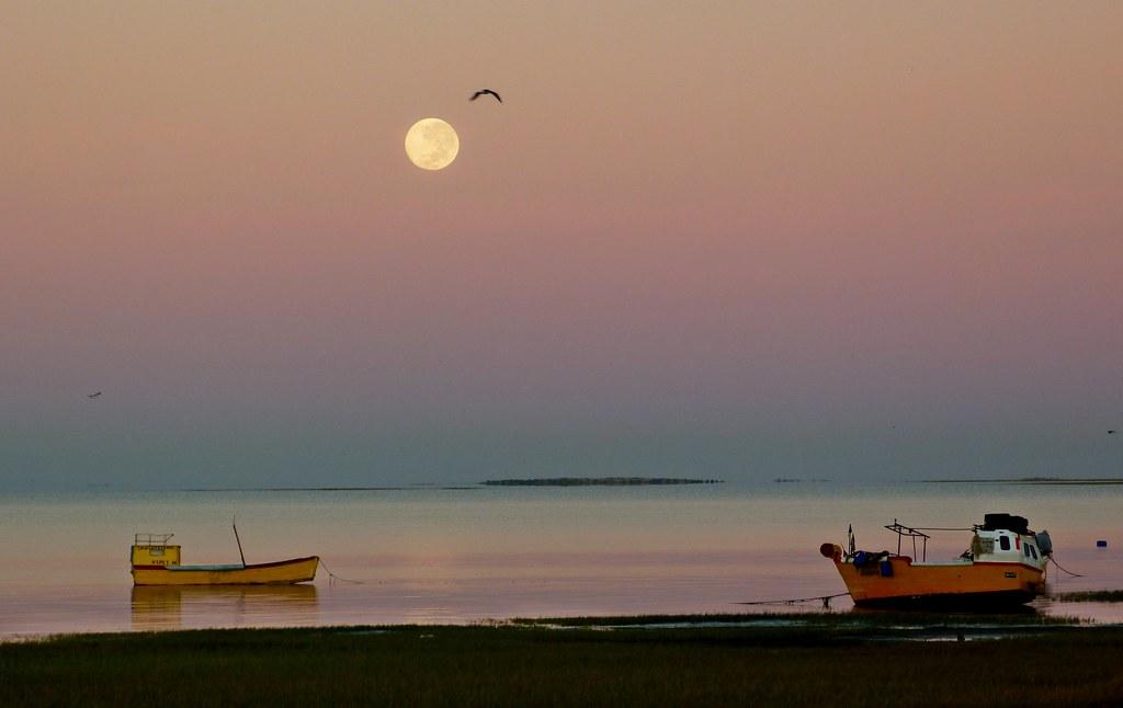 Amanecer con luna