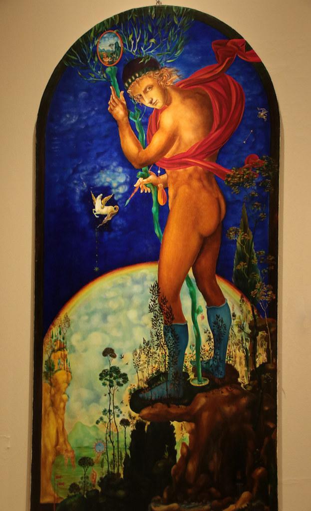 """Tano Brancato nasce a Floridia nel 1938 -la porta (1985-87) olio su tela 200 x 100cm. - Da Pirandello a Guccione"""" - Artisti di Sicilia - Convitto delle Arti Noto Museum"""