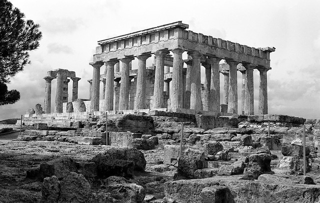 Temple of Aphaia ( Ναός Αφαίας) built ca. 500 BC, Aegina, Greece  March 1974