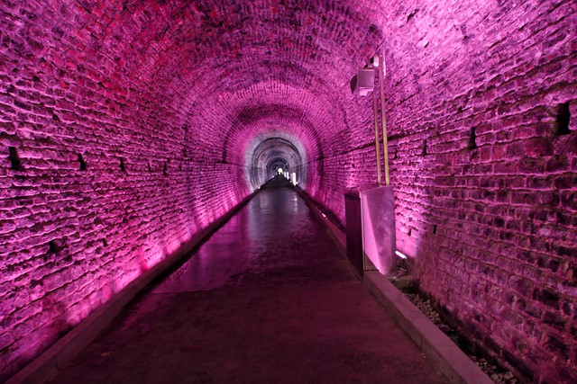 Brockville  Ontario - Canada - Canada's First Railway Tunnel ~ 1860  - Psychedelic Light Show