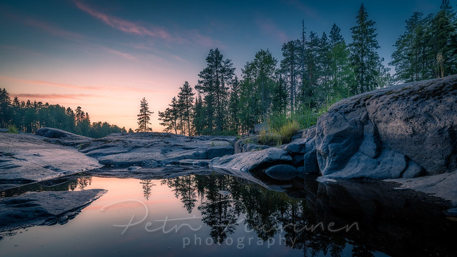 Afterglow reflections