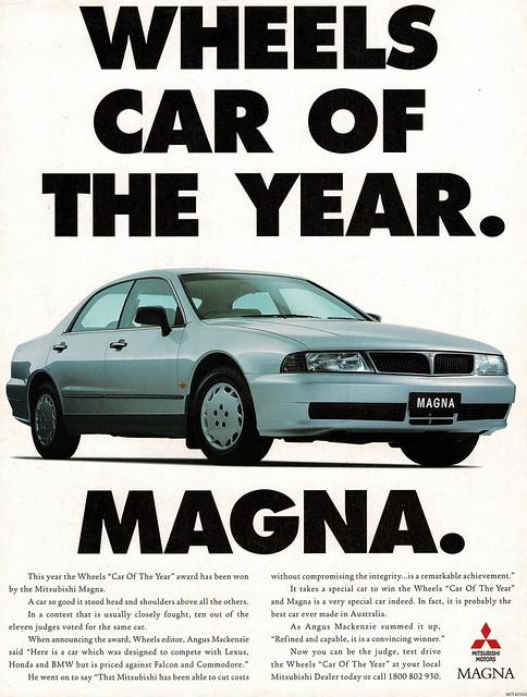 1997 TE Mitsubishi Magna Sedan COTY Aussie Original Magazine Advertisement