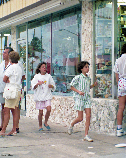 Two Girls Running, Hollywood, FL, 1985