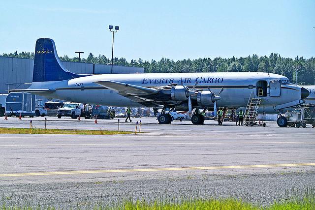 N151   Douglas DC-6B [45496] (Everts Air Cargo) Ted Stevens Anchorage Int'l~N 02/07/2018
