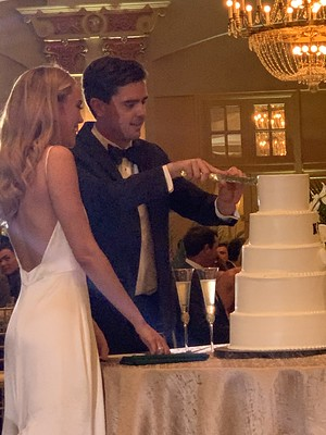 Jack and Katie Cutting the Wedding Cake
