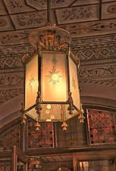 Old light fitting